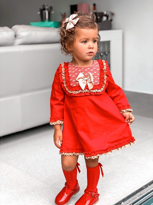 Luxury Gold&Red Dress