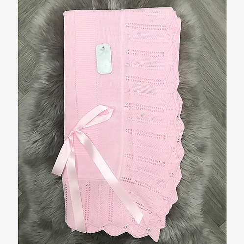 Pink Bow Blanket