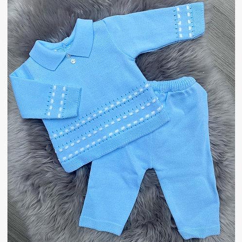Joey Blue Knit Set