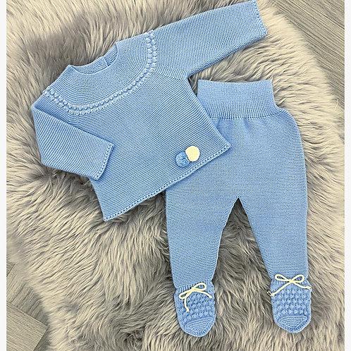 Brilliant Blue Knit Set
