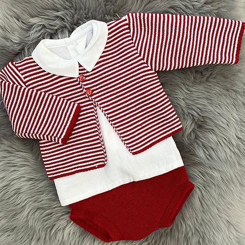 Red Stripe 3 Piece