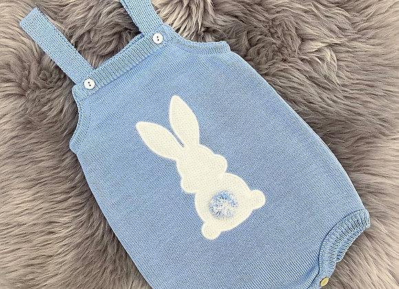 Dusty Blue Bunny Romper