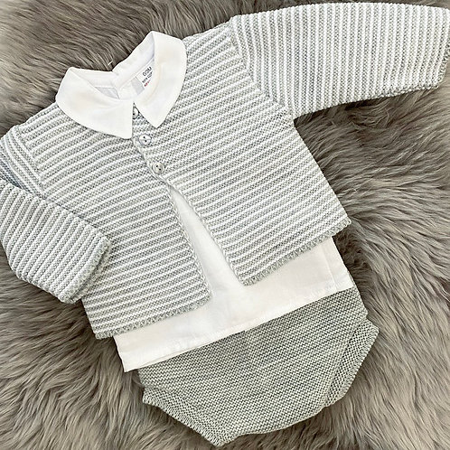 Grey Stripe 3 Piece