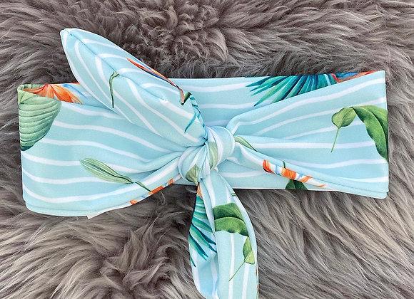 Meia Pata Tropical Bow Headband
