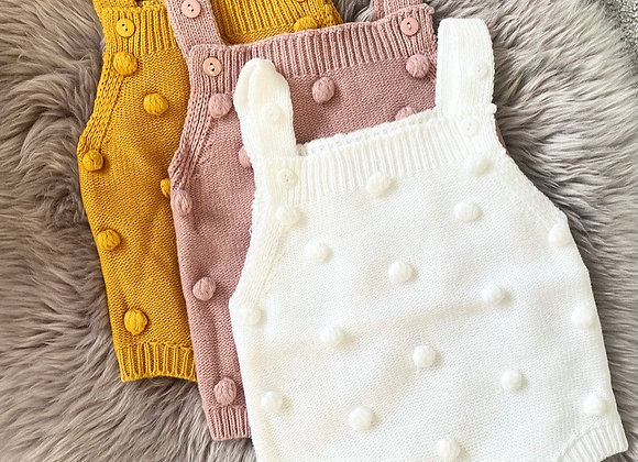 Bobble Knit Rompers