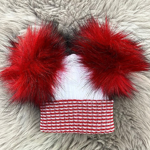Red Faux Fur Christmas Hat