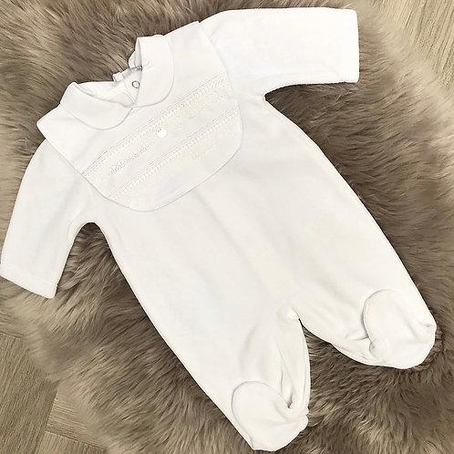 White Velour with detachable bib