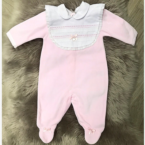 Bella Romper with detachable bib