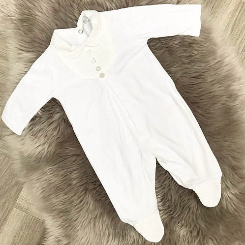 Cute White Cotton Romper