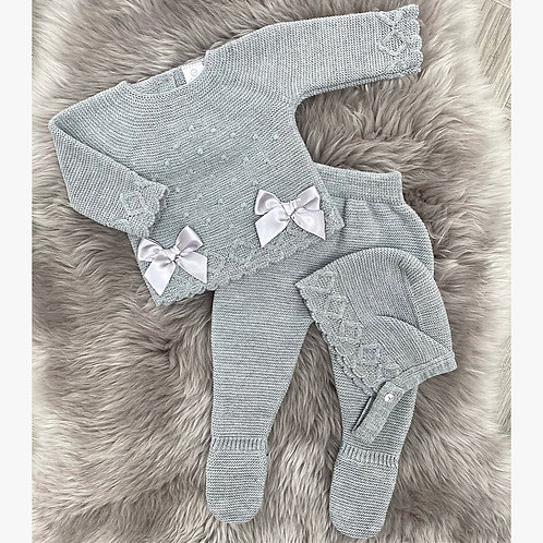 Grey Bow 3 Piece
