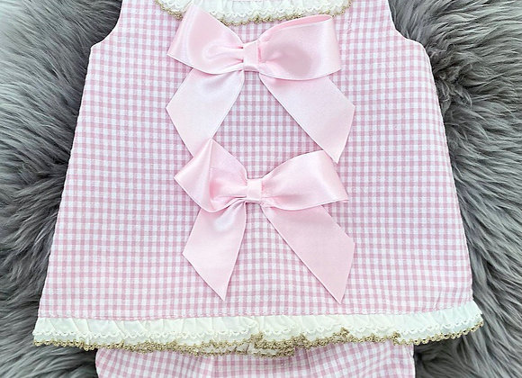 Pink checked 2 Piece