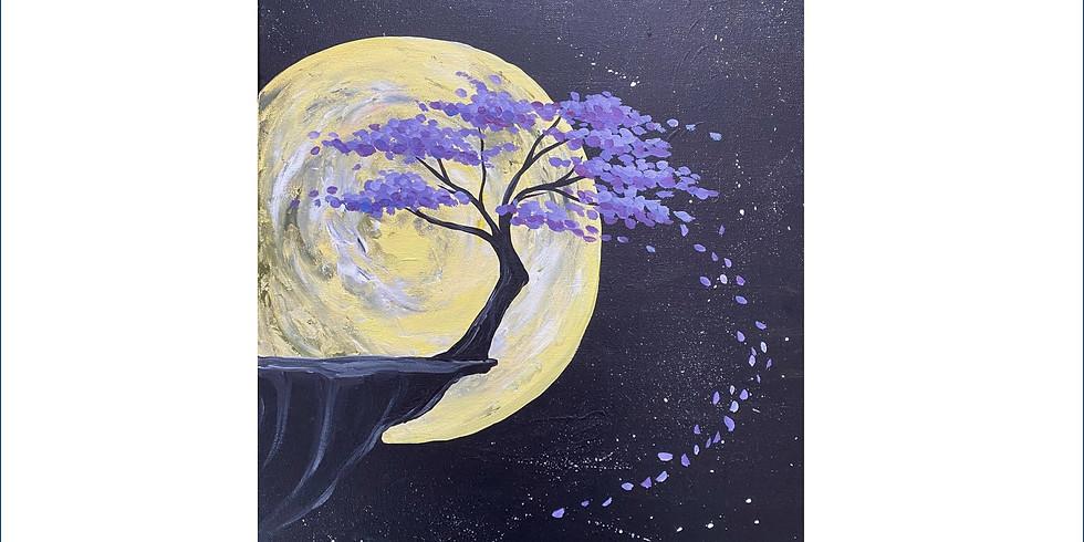 Virtual PAINT NITE - Wolf Moon