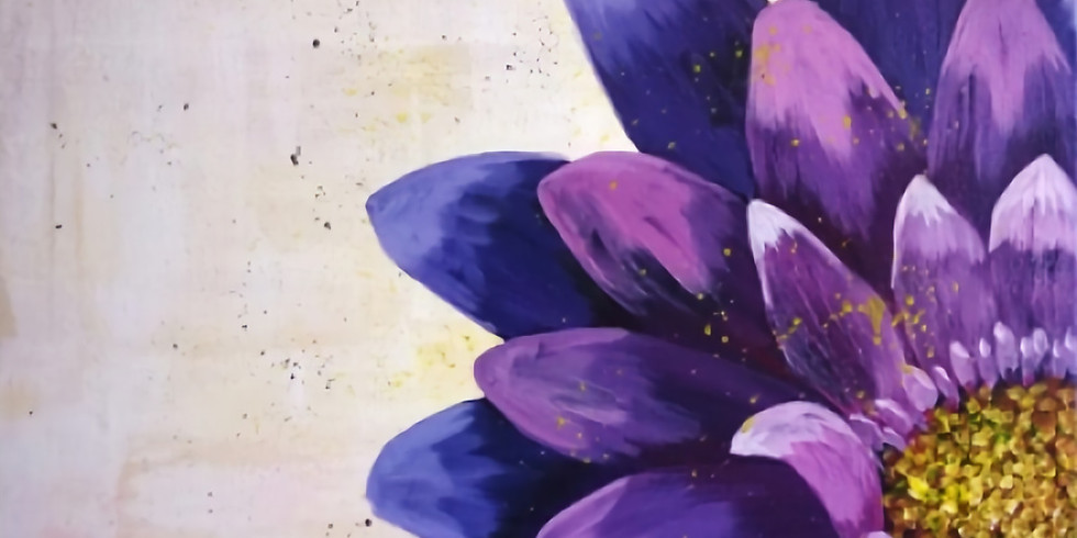 PAINT NITE @Saffron's- Blooming in Purple