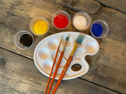 Paint and reusable palette