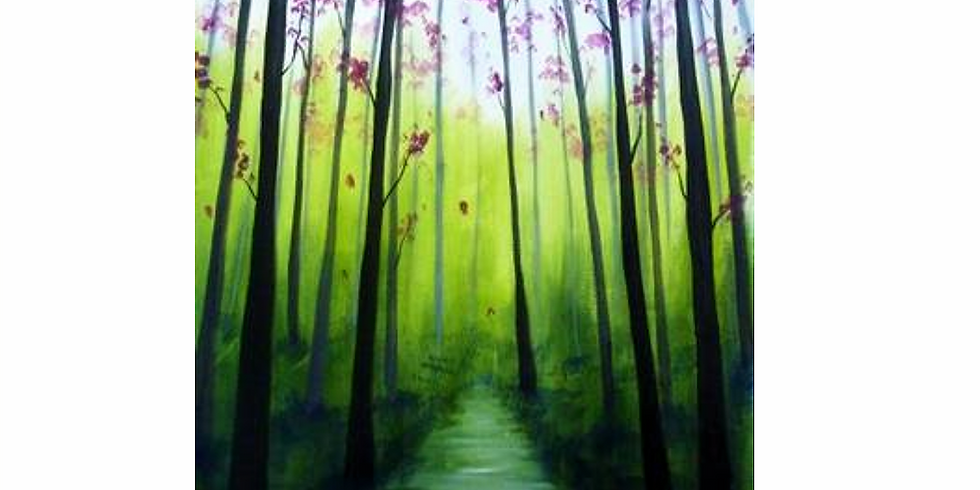 Virtual Fundraising PAINT NITE - Enchanted Forest