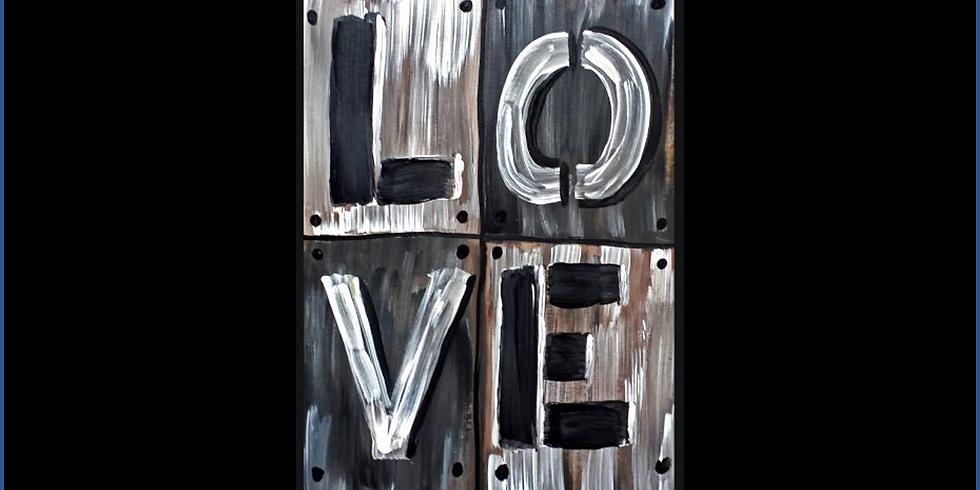 VIRTUAL FUNDRAISING PAINT NITE - Love is Everywhere
