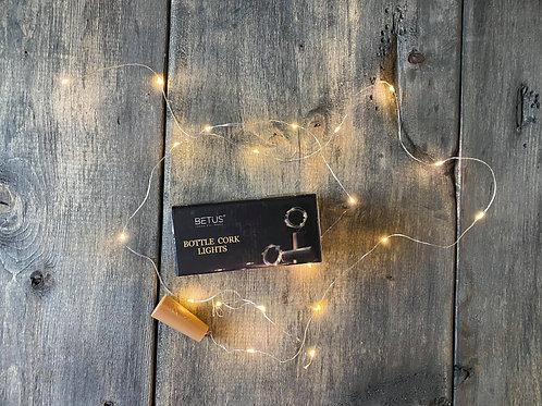 Bottle cork lights + Gift