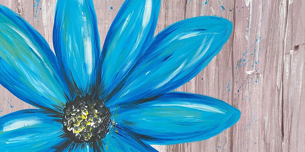 PAINT NITE - Rustic Teal Flower @ Safron's