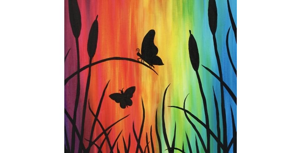 Virtual Fundraising PAINT NITE - Rainbow Butterflies