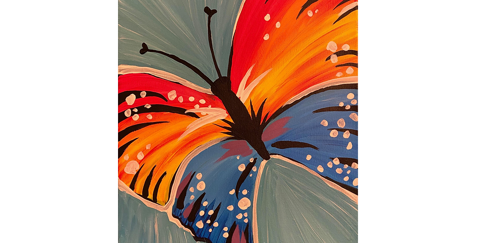 VIRTUAL PAINT NITE - Colorful Butterfly