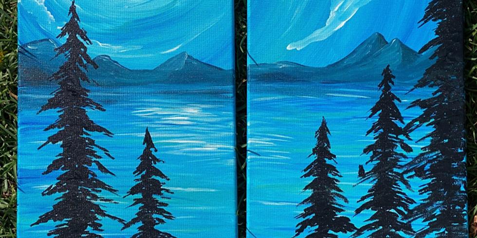 PAINT NITE - Blue Lake (Partner Painting) @ Saffron's