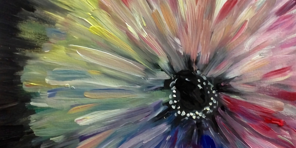 Virtual Fundraising PAINT NITE - A Flower for Mom