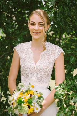 sophie's wedding makeup