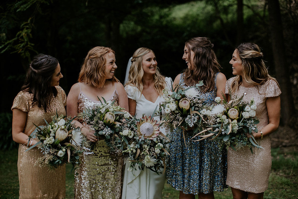 bride and bridesmaids southern highlands