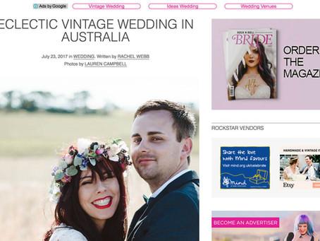 Casey & her gorgeous DIY wedding - online features