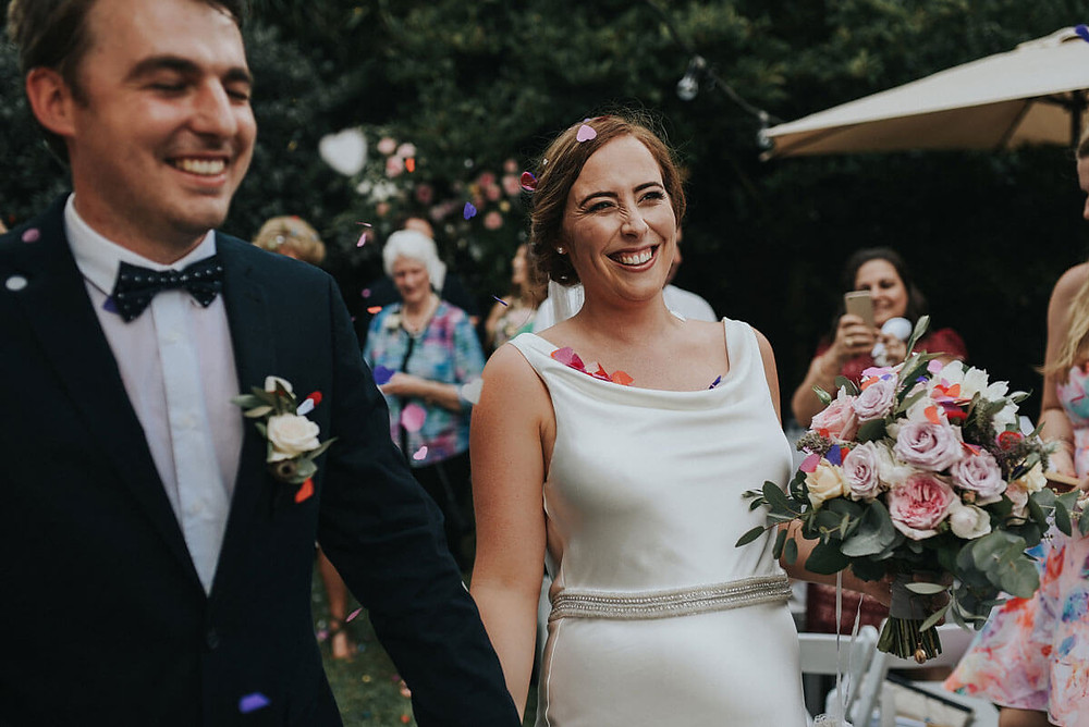 just married matt and clare wedding