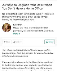 Emma Painter Interiors 23 Ways to Upgrade Your Desk When You Don't Have a Home Office