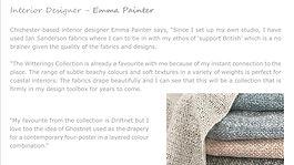 Interior Designer - Emma Painter - on local inspiration south coast living