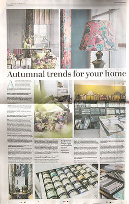 Emma Painter Interiors with Autumnal trends for your home