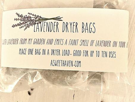 SWEET SMELLING LAVENDER DRYER BAGS