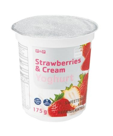 Strawberries and Cream Yoghurt