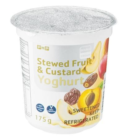 Stewed Fruit & Custard Yoghurt