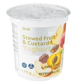 Stewed Fruit & Custard Yoghurt