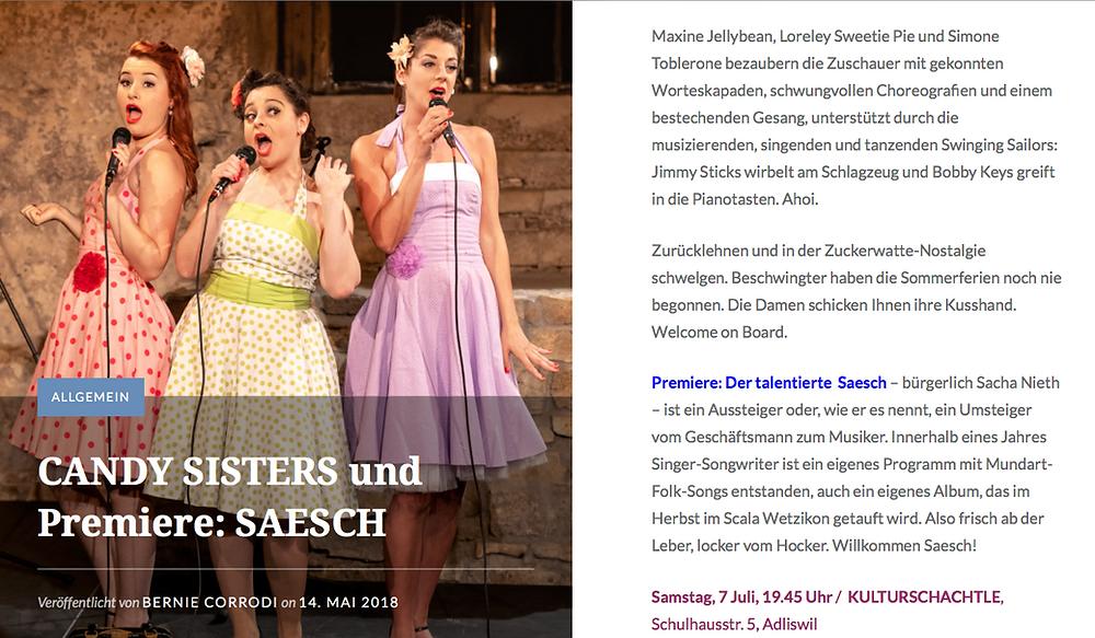 Kulturschachtle Adliswil - Premiere