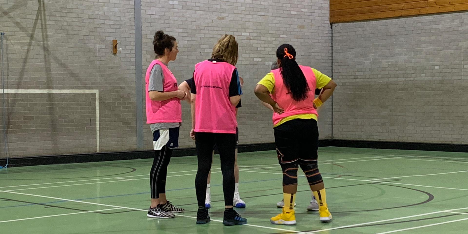 Team Pink Huddle