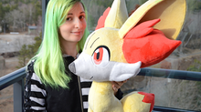 Lifesize Fennekin and Eevee plushies!