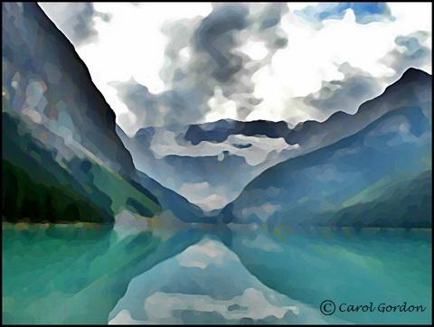 Lake Louise watercolour1copyright