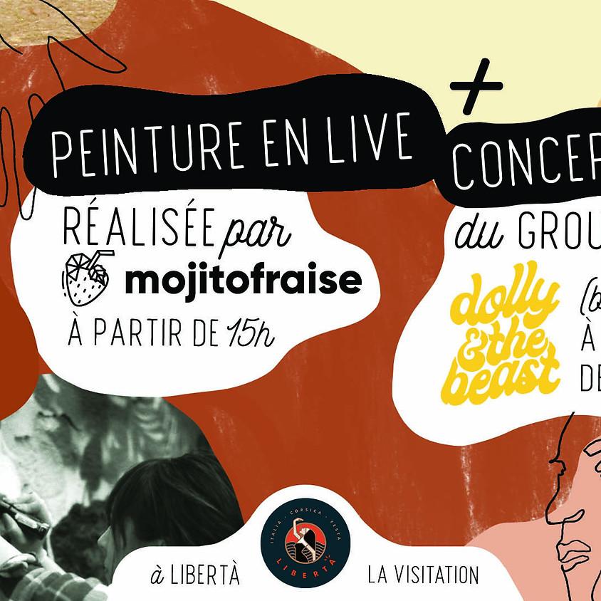 Mojitofraise Peinture en live + Dolly & The Beast Concert blues