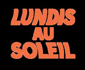 Logo lundi au soleil 3 lignes orange ple