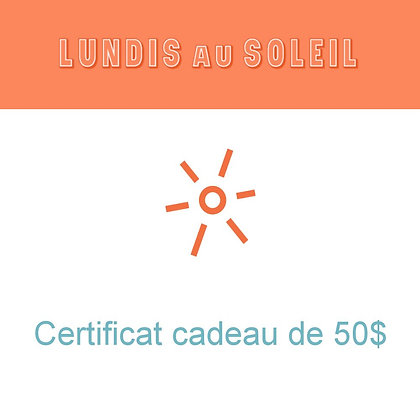 Certificat cadeau LaS de 50$