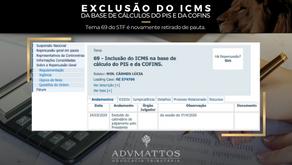STF retira novamente de pauta Exclusão do ICMS da base de cálculos do PIS/COFINS