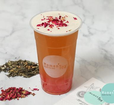 bubble tea rose litchi momen'tea