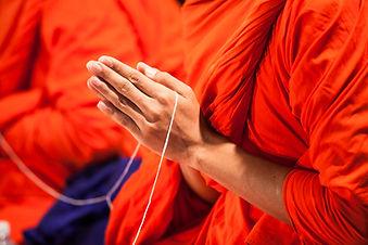 pray of monks of buddhist in Thailand.jp