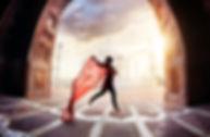 Woman with red scarf dancing near Taj Ma