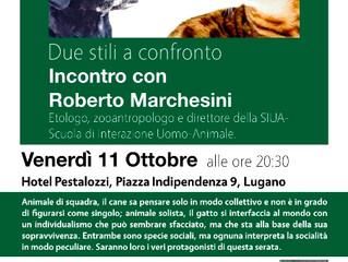 11.10.2019 Cane & Gatto due stili a confronto, incontro con Roberto Marchesini