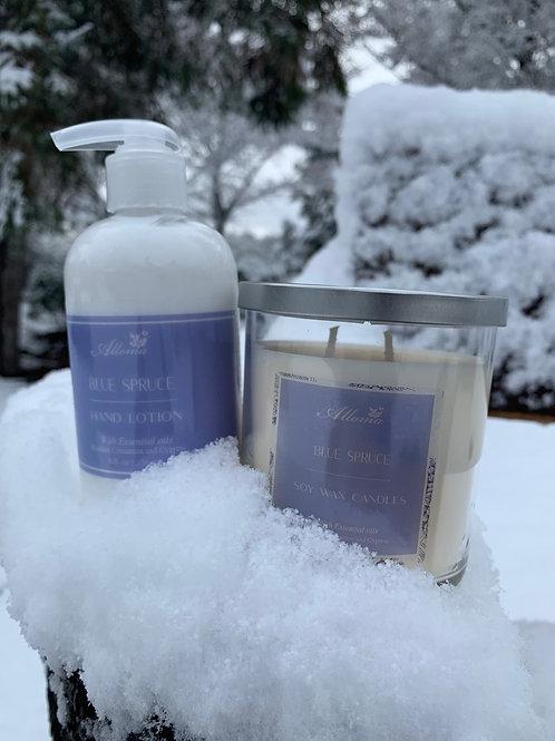 Blue Spruce Candle & Lotion Set